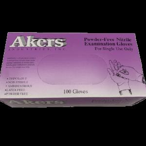 Akers Powder Free Nitrile Examination Gloves